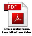 Formulaire d'adhésion école Nidau